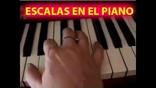 CURSO DE PIANO CLASE DE PIANO DEDOS ESCALAS MAYORES/M
