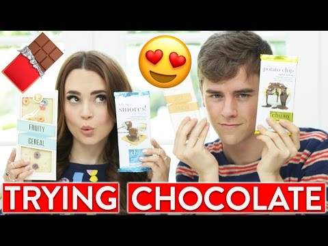 TRYING FUN CHOCOLATE FLAVORS w/ Connor Franta!
