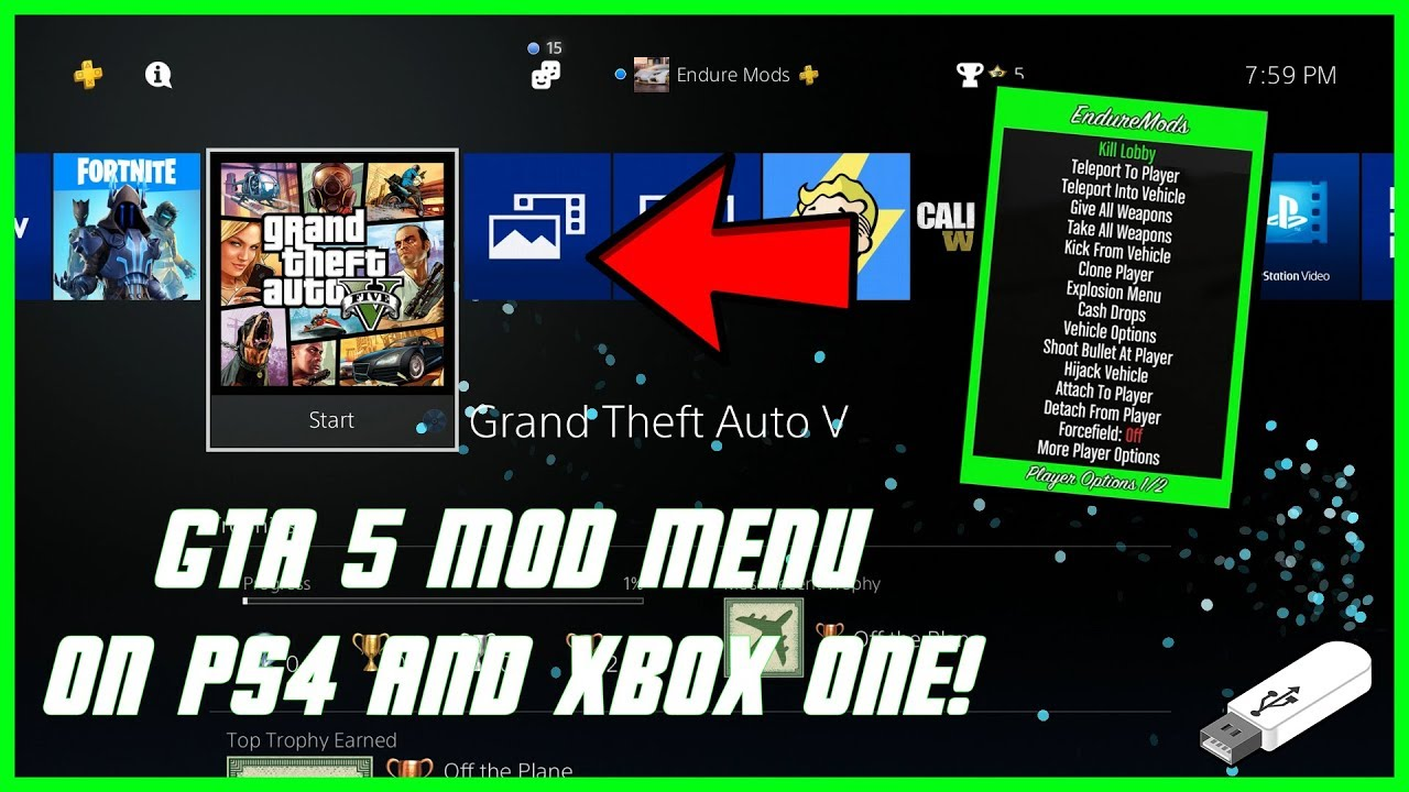 - fortnite usb mods xbox one