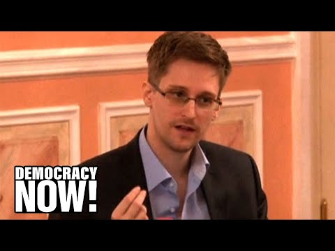 Edward Snowden Speaks Out Against NSA