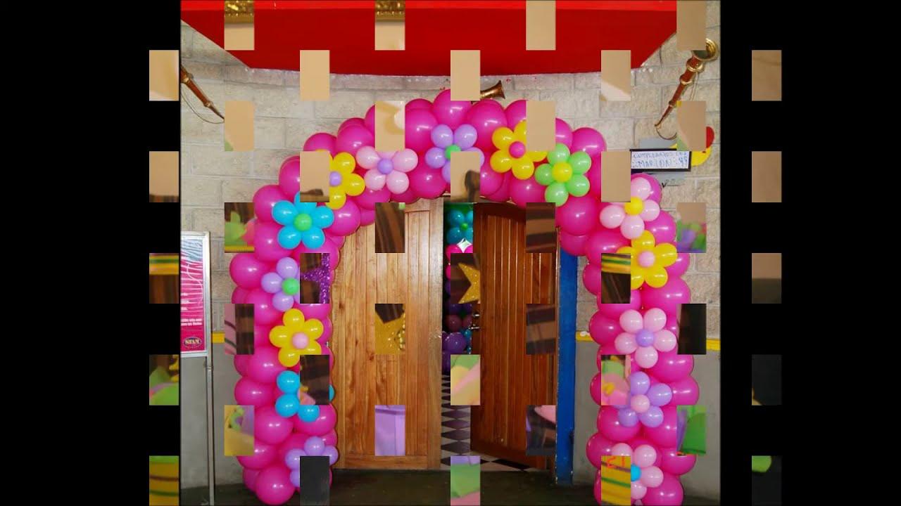 Decoracion para fiestas alegria recreacion bogota youtube - Decoracion para la pared ...