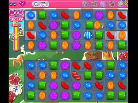 How to beat Candy Crush Saga Level 199 - 3 Stars - No Boosters - 452