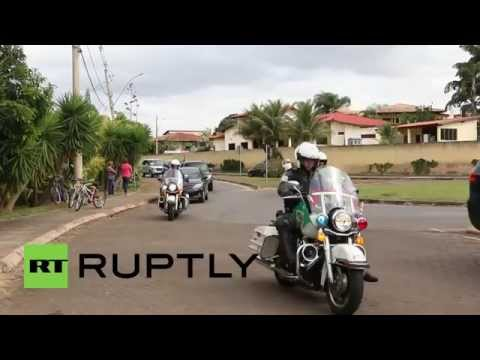 Brazil: Prince Harry visits rehabilitation centre for disabled people