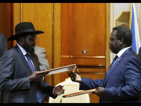 Ethiopia - Riek Machar and Salva Kiir Sign Peace Deal