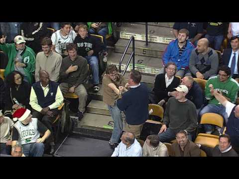 HD video of Jeremy Fry - Celtics Fan Dancing to Bon Jovi Living on a Prayer at a Celtics game