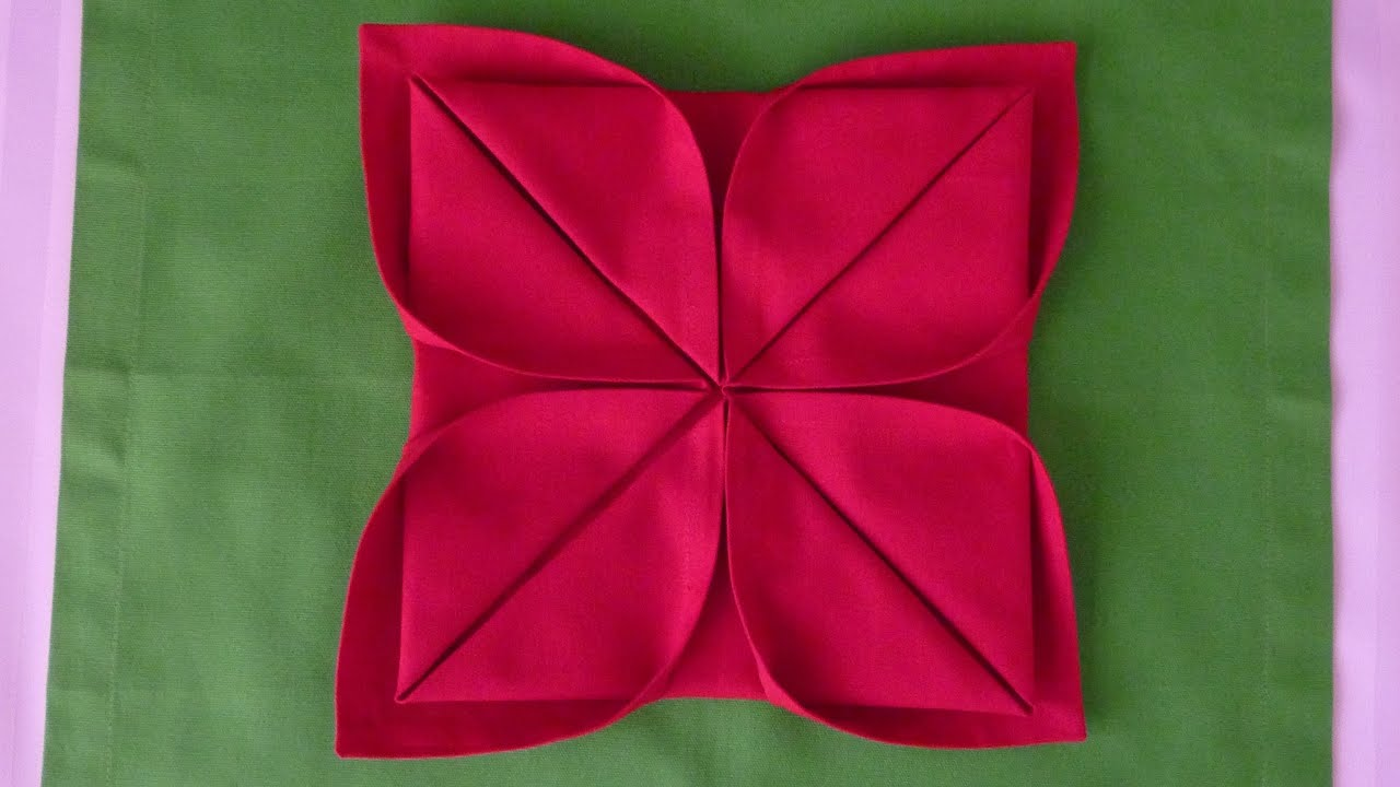 Lotus Serviette Folding : Napkin Folding  Lotus  YouTube