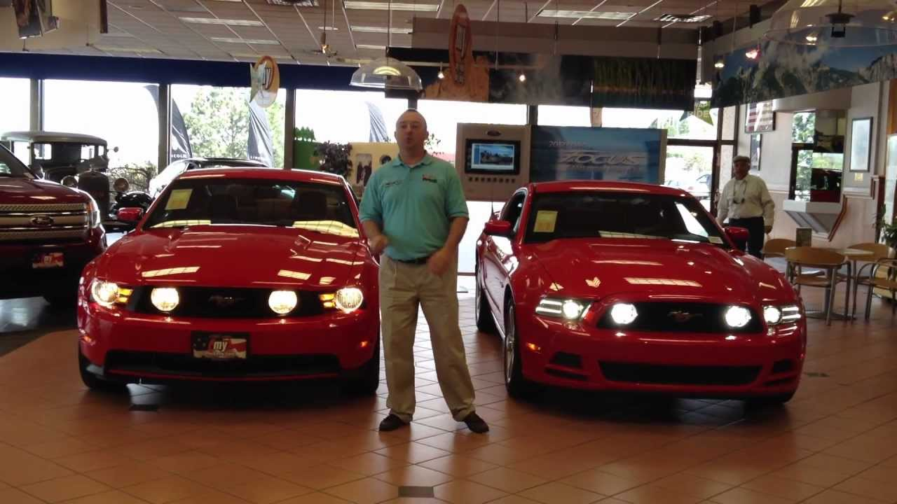 2013 vs 2012 ford mustang gt in colorado springs co youtube for Colorado springs motor vehicle registration