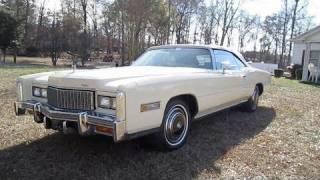 1976 Cadillac Eldorado Convertible Start Up, Engine, and In Depth Tour