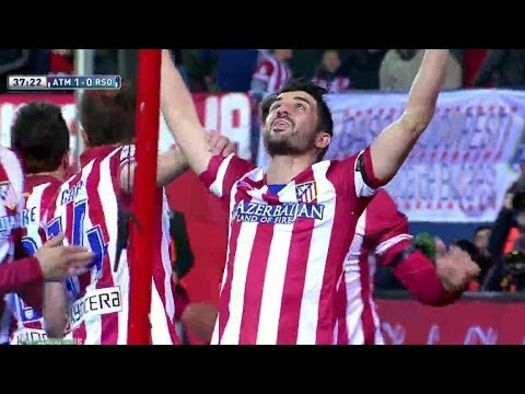 David Villa Goal | Atletico Madrid vs Real Sociedad 1-0 | 02-02-2014
