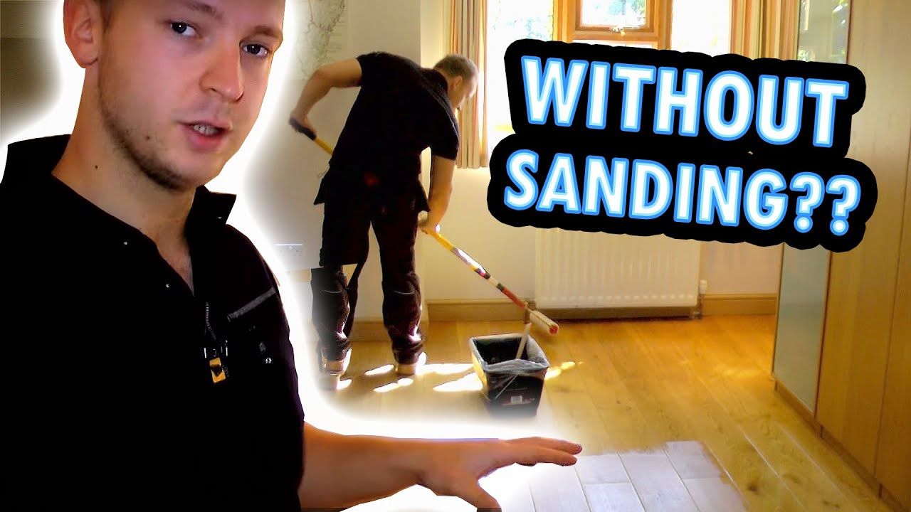 How to refinish a wood floor without sanding youtube for How to restore hardwood floors without sanding