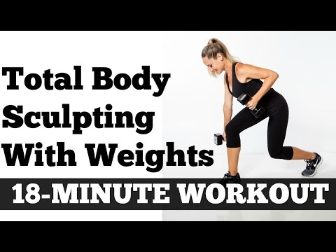 Strength Training for Women, 18 Minute Total Body Sculpting Time Saver Workout
