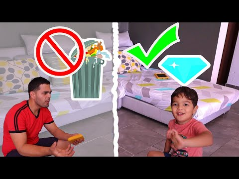VIDEO  CHISTOSOS   APRENDER  A  RECOGER  LOS JUGUETES  LEARN  TO  ORGANIZE  TOYS FUNNY  VIDEO