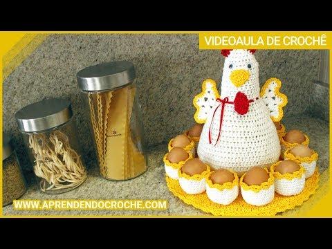 Galinha de Crochê Porta Ovos - Aprendendo Crochê