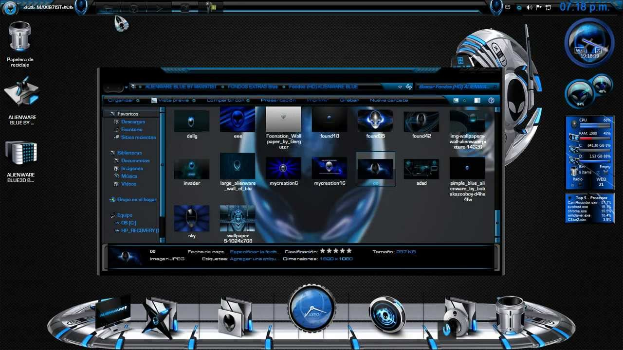 All comments on Descarga Tema 3D Alienware Blue Para W7 [SIN PASS ...