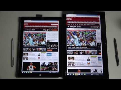 Microsoft Surface Pro 3 vs Sony Vaio Duo 13