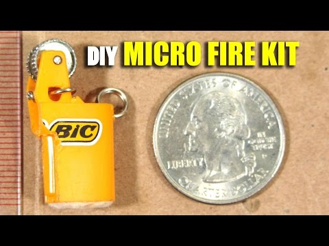 Micro Emergency Fire Starting Kit Tutorial, Homemade Survival Tool