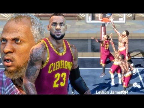 LEBRON JAMES & GRANDPA BATTLE THE CAVS! NBA 2k16 My Park Gameplay
