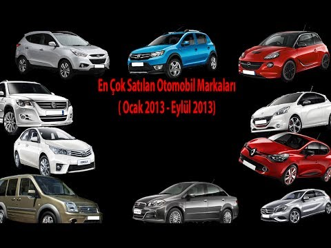 En Çok Satılan 10 Otomobil Markası