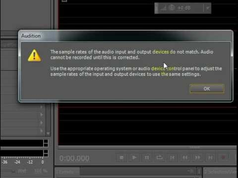 Sound Recording FIX in Adobe Audition CS5.5