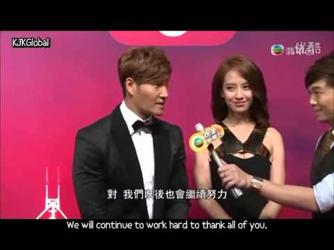 [EngSub] Kim Jong Kook & Song Ji Hyo Short Interview with TVB @ MAMA 2013
