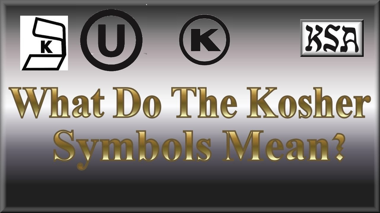 What Do The Kosher Symbols Mean Youtube