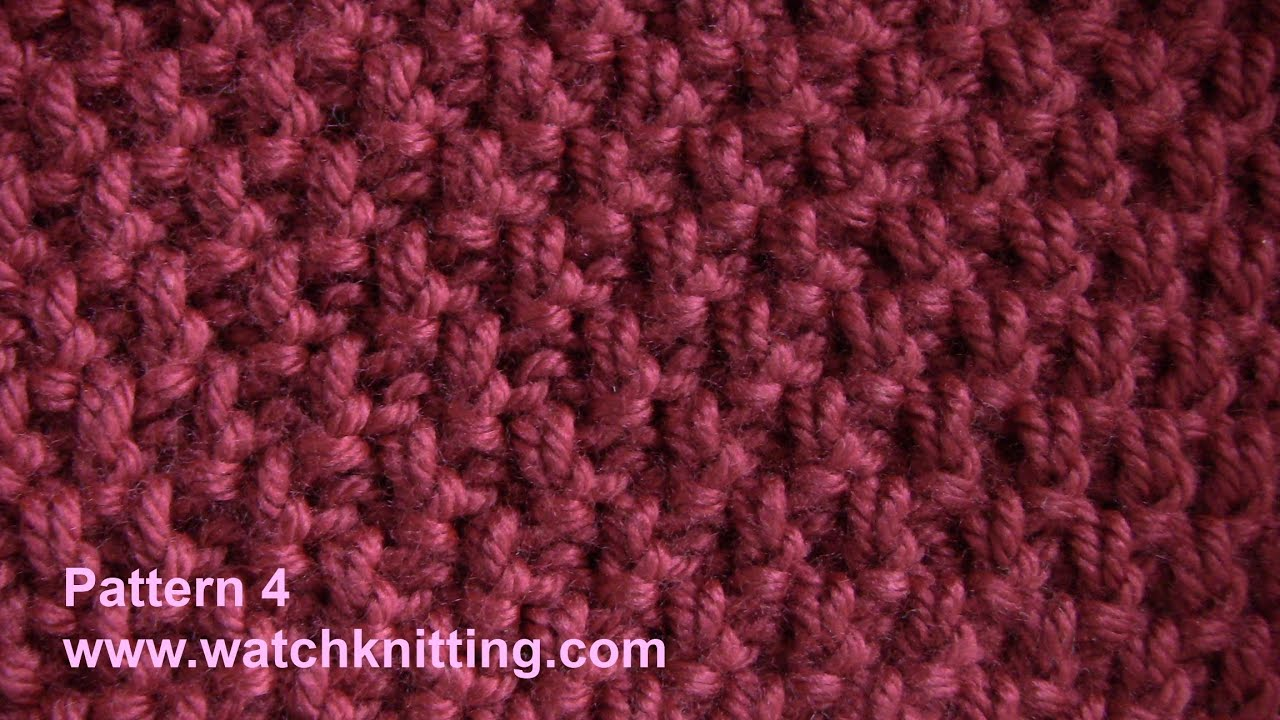 (Doubled Moss) - Simple Patterns - Free Knitting Patterns Tutorial - Watch Kn...