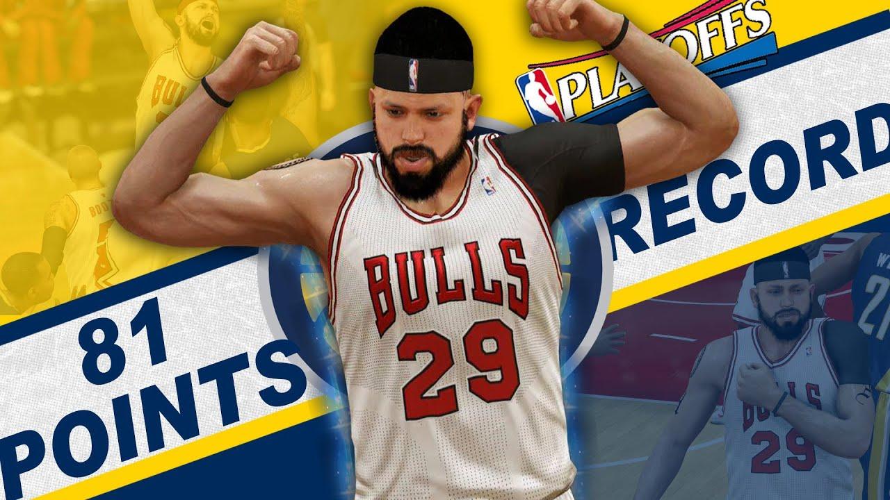 NBA 2K14 PS4 MyCAREER Playoffs SFG2 - Tied Kobe 81 Points Record?!? - YouTube