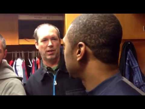 Indians center fielder Michael Bourn after first game of season vs Tigers