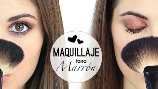 Maquillaje de noche en tonos marrones