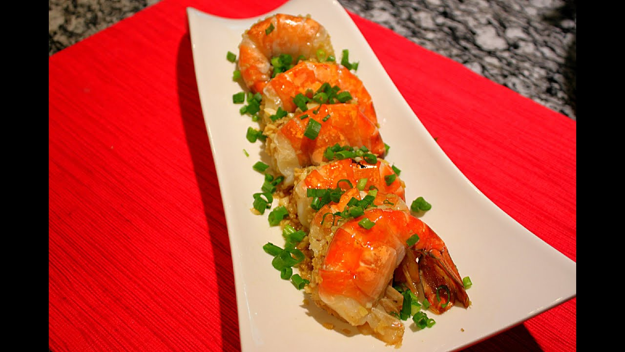 Steamed Tiger Prawns with Garlic/蒜茸蒸虎蝦/Chinese Food ...