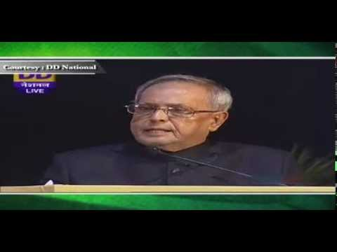 President Pranab Mukherjee addresses at the Victory over Polio Celebrations