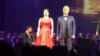 "Andrea Bocelli & Ekaterina  Lekhina ""Time to say goodbye""  Concert Copenhagen 21.02.2017"