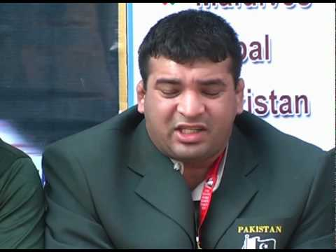PAKISTAN WRESTLERS MEDIA PRESS CONFRENCE FOR EQUAL PRIZE.MPG
