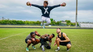 YOU'VE NEVER SEEN CATCHES LIKE THIS BEFORE.. (FOOTBALL H.O.R.S.E. vs MY FRIENDS)
