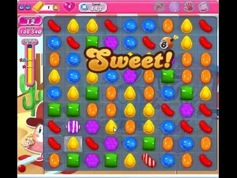 How to beat Candy Crush Saga Level 443 - 3 Stars - No Boosters - 164