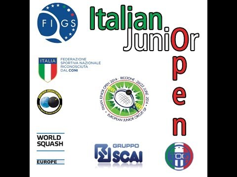 Squash - Italian Junior Open 2014 - Day 1