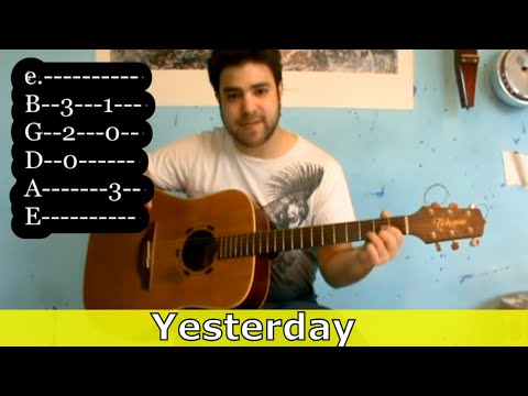 Guitar Tutorial: *Yesterday* Instrumental  (Beatles Fingerstyle)