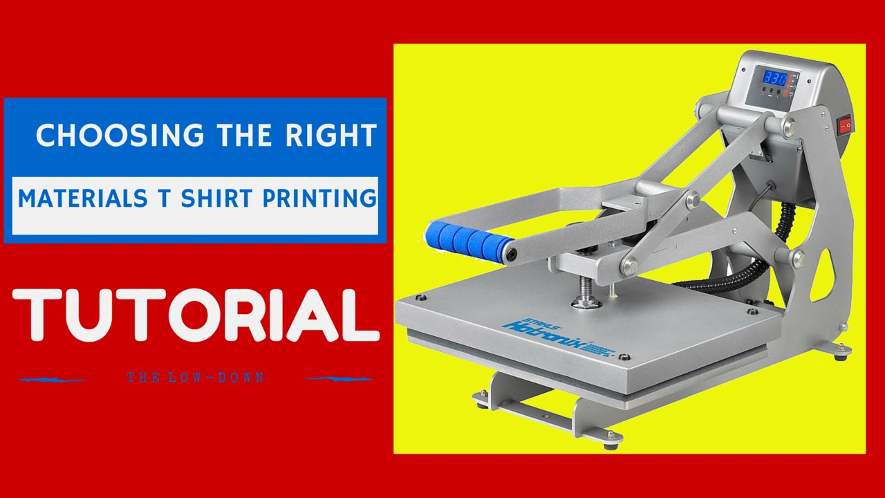 T Shirt Printing Business: Choosing The Right Materials ...