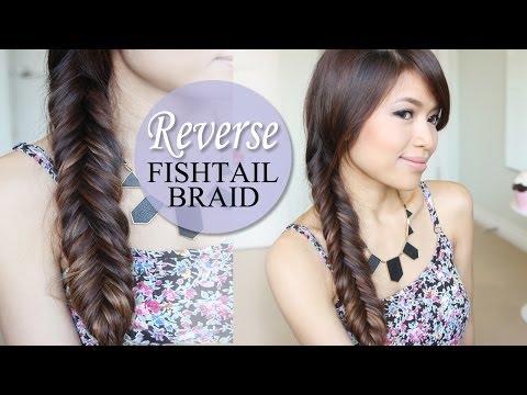 Reverse Fishtail Braid Hair Tutorial