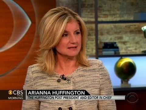 Arianna Huffington talks
