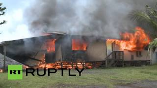 Lava from erupting Kilauea volcano claims 1st house in Hawaii