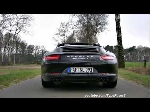 2012 Porsche 911 (991) Carrera S Cabriolet PDK GREAT Sounds! 1080p HD!