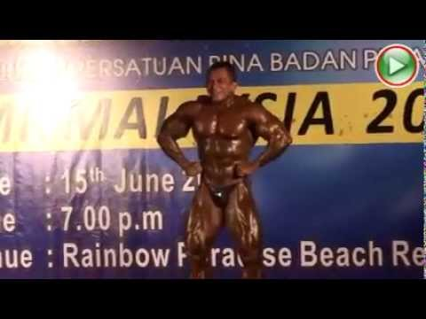 Mr Universe Sazali Samad appearances at Mr Malaysia 2013