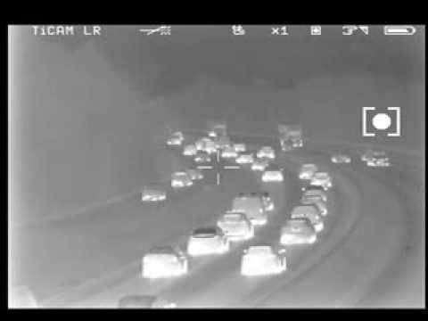Transport Surveillance Footage with TiCAM 750 Thermal Imaging Binoculars