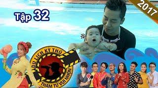 NHỮNG THÁM TỬ VUI NHỘN | Tập 32 FULL | Vẽ tranh bằng băng dính | Tập bơi cho trẻ sơ sinh | 100817 🌏