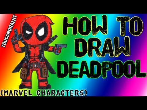How To Draw Deadpool Marvel Characters YouCanDrawIt ツ 1080p
