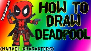 How To Draw Deadpool Marvel Characters YouCanDrawIt ツ