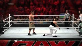 WWE 2K14 Gameplay John Cena Vs The Wyatt Family