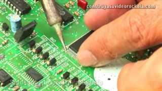 Como cambiar un circuito integrado de superficie (SMD)