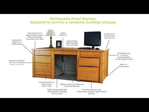Earthquake-Proof Desk